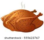 illustration of hot fried baked ... | Shutterstock .eps vector #555623767