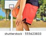 shot of a young basketball...   Shutterstock . vector #555623833