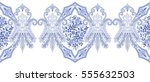 seamless wide border with blue... | Shutterstock .eps vector #555632503