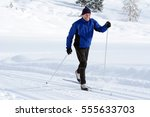 the cross country skier in the... | Shutterstock . vector #555633703