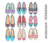beautiful set of different... | Shutterstock .eps vector #555636463