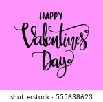 happy valentine's day.... | Shutterstock .eps vector #555638623