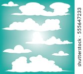 clouds vector collection back... | Shutterstock .eps vector #555647233