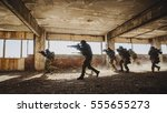 army soldiers during the... | Shutterstock . vector #555655273