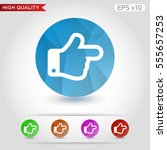 colored icon or button of right ... | Shutterstock .eps vector #555657253