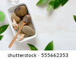 spa composition with dead sea... | Shutterstock . vector #555662353
