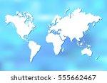 colorful world map illustration ... | Shutterstock . vector #555662467