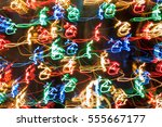 abstract colorful lights... | Shutterstock . vector #555667177