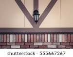wall with lamp | Shutterstock . vector #555667267
