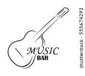 guitar logo and inscription... | Shutterstock .eps vector #555674293