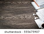 business items notepad and... | Shutterstock . vector #555675907
