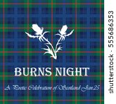 the card burns night on tartan...