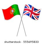 portuguese and british crossed... | Shutterstock .eps vector #555695833