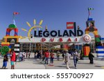 dubai legoland at dubai parks... | Shutterstock . vector #555700927