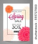 spring sale poster  banner ... | Shutterstock .eps vector #555727003