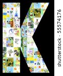the letter k from children's... | Shutterstock . vector #55574176