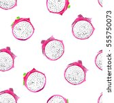 painted seamless pattern with... | Shutterstock . vector #555750073