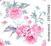 vintage floral seamless texture ... | Shutterstock . vector #555754063