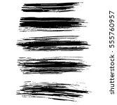black ink vector brush strokes... | Shutterstock .eps vector #555760957