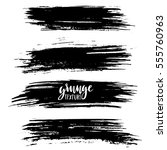 black ink vector brush strokes... | Shutterstock .eps vector #555760963