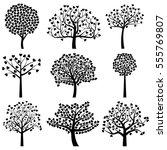 valentine's day tree... | Shutterstock .eps vector #555769807