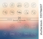 set of social network icons | Shutterstock .eps vector #555786037