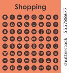 set of shopping simple icons | Shutterstock .eps vector #555788677