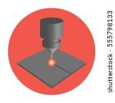 icon laser cut | Shutterstock .eps vector #555798133