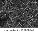 black and white vector city map ... | Shutterstock .eps vector #555800767