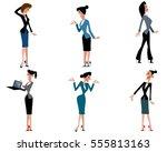 vector illustration of a six... | Shutterstock .eps vector #555813163