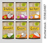 set of colorful labels  sketch... | Shutterstock .eps vector #555813487