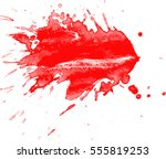 blood drops and splatters on... | Shutterstock .eps vector #555819253