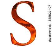 uppercase letter s   the... | Shutterstock . vector #555821407