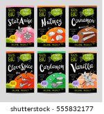 set of colorful labels  sketch... | Shutterstock .eps vector #555832177