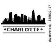 charlotte skyline silhouette   Shutterstock .eps vector #555833437