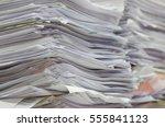 piles of paper. | Shutterstock . vector #555841123
