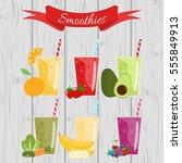 orange  strawberry  berry ... | Shutterstock .eps vector #555849913