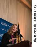 Small photo of WASHINGTON, D.C.- January 9, 2017: Secretary of Health and Human Services Sylvia Burwell speaks on the future of the Affordable Care Act at the National Press Club