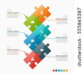 vector 6 options infographic... | Shutterstock .eps vector #555865387