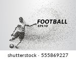 football of the particles... | Shutterstock .eps vector #555869227