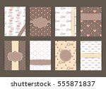 wedding card flyer pages... | Shutterstock .eps vector #555871837