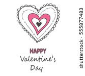 valentines day card | Shutterstock .eps vector #555877483