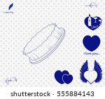cleaninng brush icon with bonus ... | Shutterstock .eps vector #555884143
