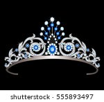 vintage silver diadem decorated ...   Shutterstock .eps vector #555893497