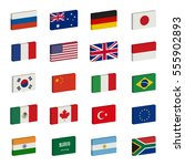 simple 3d flags icons of the... | Shutterstock .eps vector #555902893