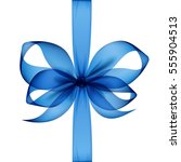 vector blue transparent bow and ... | Shutterstock .eps vector #555904513