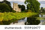 church by a stream | Shutterstock . vector #555910477