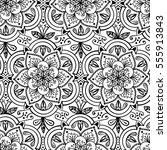 handdrawn ethnic ornamental... | Shutterstock .eps vector #555913843