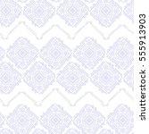 handdrawn ethnic ornamental... | Shutterstock .eps vector #555913903