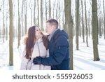 young loving couple having fun... | Shutterstock . vector #555926053